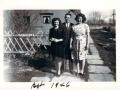 Left to right: Lorraine, Rondo, Wanda. March 1946.